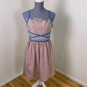 Doe & Rae pink blue polka dot summer sundress
